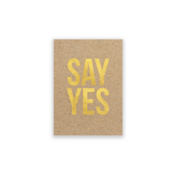 Karte - Say yes von the birds and the bees