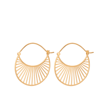 Daylight Earrings gold L von Pernille Corydon
