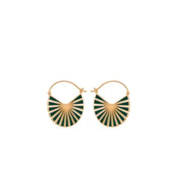Flare Green Earrings gold von Pernille Corydon